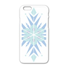 Snowflakes Star Blue Triangle Apple Iphone 6/6s White Enamel Case by Mariart