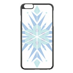 Snowflakes Star Blue Triangle Apple Iphone 6 Plus/6s Plus Black Enamel Case by Mariart