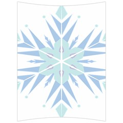 Snowflakes Star Blue Triangle Back Support Cushion