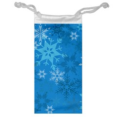 Snowflakes Cool Blue Star Jewelry Bag