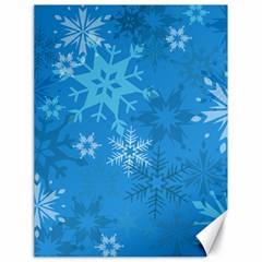 Snowflakes Cool Blue Star Canvas 18  X 24   by Mariart