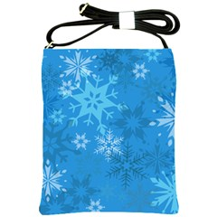 Snowflakes Cool Blue Star Shoulder Sling Bags