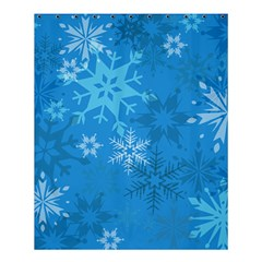Snowflakes Cool Blue Star Shower Curtain 60  X 72  (medium)  by Mariart
