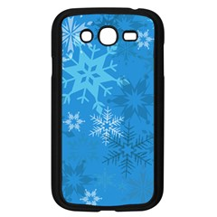 Snowflakes Cool Blue Star Samsung Galaxy Grand Duos I9082 Case (black) by Mariart