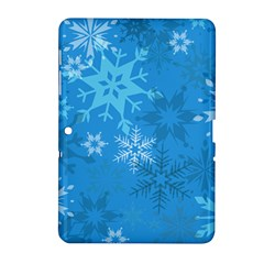 Snowflakes Cool Blue Star Samsung Galaxy Tab 2 (10 1 ) P5100 Hardshell Case  by Mariart