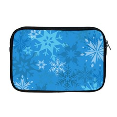 Snowflakes Cool Blue Star Apple Macbook Pro 17  Zipper Case