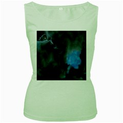 Space Star Blue Sky Women s Green Tank Top by Mariart