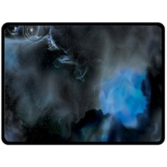 Space Star Blue Sky Fleece Blanket (large)  by Mariart