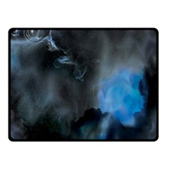 Space Star Blue Sky Double Sided Fleece Blanket (small)