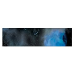 Space Star Blue Sky Satin Scarf (oblong) by Mariart