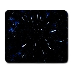 Space Warp Speed Hyperspace Through Starfield Nebula Space Star Line Light Hole Large Mousepads