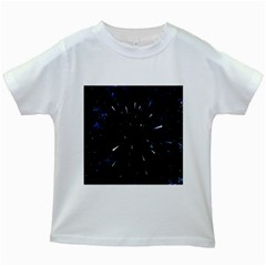 Space Warp Speed Hyperspace Through Starfield Nebula Space Star Line Light Hole Kids White T Shirts by Mariart