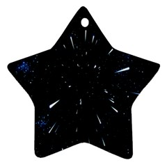 Space Warp Speed Hyperspace Through Starfield Nebula Space Star Line Light Hole Star Ornament (two Sides) by Mariart