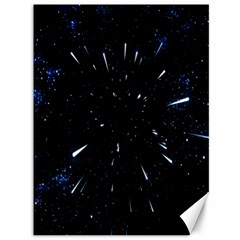 Space Warp Speed Hyperspace Through Starfield Nebula Space Star Line Light Hole Canvas 36  X 48   by Mariart