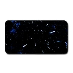 Space Warp Speed Hyperspace Through Starfield Nebula Space Star Line Light Hole Medium Bar Mats by Mariart