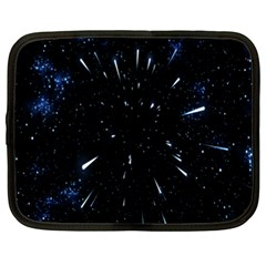 Space Warp Speed Hyperspace Through Starfield Nebula Space Star Line Light Hole Netbook Case (large) by Mariart