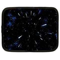 Space Warp Speed Hyperspace Through Starfield Nebula Space Star Line Light Hole Netbook Case (xxl)  by Mariart