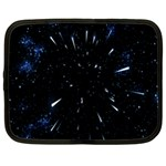 Space Warp Speed Hyperspace Through Starfield Nebula Space Star Line Light Hole Netbook Case (XXL)  Front