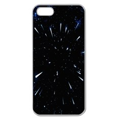 Space Warp Speed Hyperspace Through Starfield Nebula Space Star Line Light Hole Apple Seamless Iphone 5 Case (clear) by Mariart