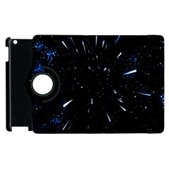 Space Warp Speed Hyperspace Through Starfield Nebula Space Star Line Light Hole Apple Ipad 2 Flip 360 Case by Mariart