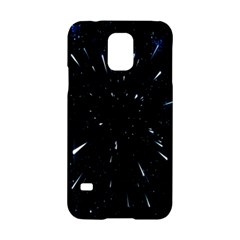 Space Warp Speed Hyperspace Through Starfield Nebula Space Star Line Light Hole Samsung Galaxy S5 Hardshell Case  by Mariart