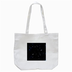 Space Warp Speed Hyperspace Through Starfield Nebula Space Star Line Light Hole Tote Bag (white) by Mariart