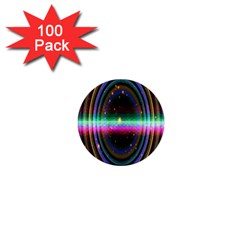 Spectrum Space Line Rainbow Hole 1  Mini Buttons (100 Pack)  by Mariart