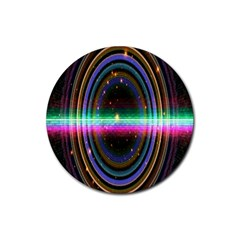 Spectrum Space Line Rainbow Hole Rubber Coaster (round)