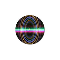 Spectrum Space Line Rainbow Hole Golf Ball Marker (4 Pack) by Mariart