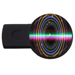 Spectrum Space Line Rainbow Hole Usb Flash Drive Round (4 Gb)