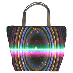Spectrum Space Line Rainbow Hole Bucket Bags by Mariart