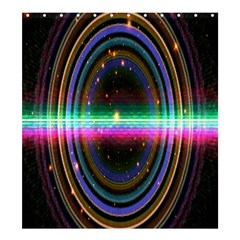 Spectrum Space Line Rainbow Hole Shower Curtain 66  X 72  (large)  by Mariart