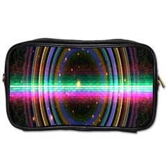 Spectrum Space Line Rainbow Hole Toiletries Bags by Mariart