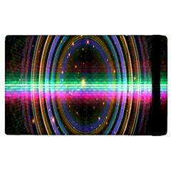 Spectrum Space Line Rainbow Hole Apple Ipad 2 Flip Case by Mariart