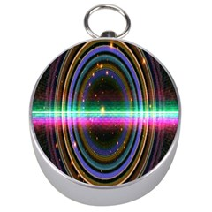 Spectrum Space Line Rainbow Hole Silver Compasses by Mariart