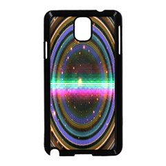 Spectrum Space Line Rainbow Hole Samsung Galaxy Note 3 Neo Hardshell Case (black) by Mariart