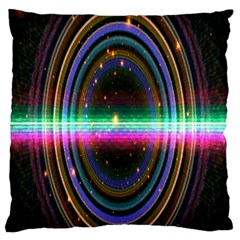 Spectrum Space Line Rainbow Hole Large Flano Cushion Case (two Sides) by Mariart