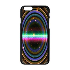 Spectrum Space Line Rainbow Hole Apple Iphone 6/6s Black Enamel Case by Mariart
