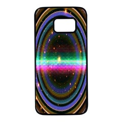 Spectrum Space Line Rainbow Hole Samsung Galaxy S7 Black Seamless Case by Mariart