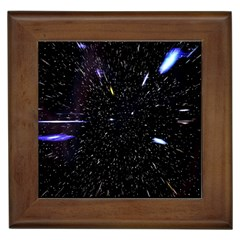 Space Warp Speed Hyperspace Through Starfield Nebula Space Star Hole Galaxy Framed Tiles
