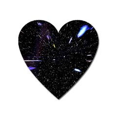 Space Warp Speed Hyperspace Through Starfield Nebula Space Star Hole Galaxy Heart Magnet by Mariart