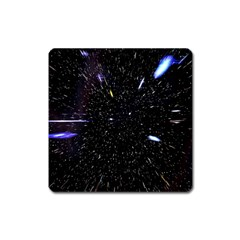 Space Warp Speed Hyperspace Through Starfield Nebula Space Star Hole Galaxy Square Magnet
