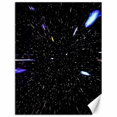 Space Warp Speed Hyperspace Through Starfield Nebula Space Star Hole Galaxy Canvas 18  X 24   by Mariart