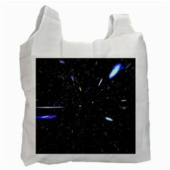 Space Warp Speed Hyperspace Through Starfield Nebula Space Star Hole Galaxy Recycle Bag (two Side)