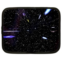 Space Warp Speed Hyperspace Through Starfield Nebula Space Star Hole Galaxy Netbook Case (xxl)  by Mariart
