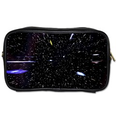 Space Warp Speed Hyperspace Through Starfield Nebula Space Star Hole Galaxy Toiletries Bags
