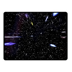Space Warp Speed Hyperspace Through Starfield Nebula Space Star Hole Galaxy Fleece Blanket (small)