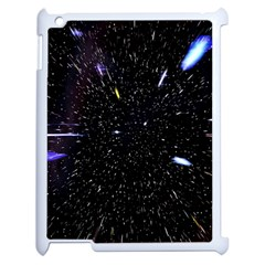 Space Warp Speed Hyperspace Through Starfield Nebula Space Star Hole Galaxy Apple Ipad 2 Case (white) by Mariart