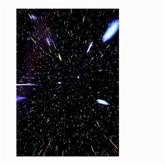 Space Warp Speed Hyperspace Through Starfield Nebula Space Star Hole Galaxy Small Garden Flag (two Sides)
