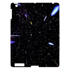 Space Warp Speed Hyperspace Through Starfield Nebula Space Star Hole Galaxy Apple Ipad 3/4 Hardshell Case by Mariart
